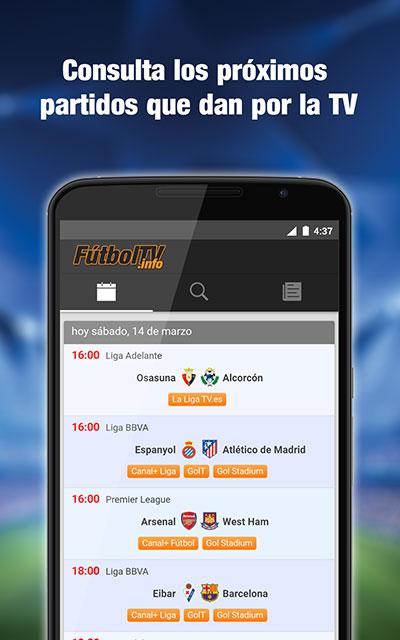 FutbolTV para Android